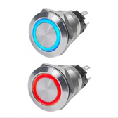 Push Button Switches - 10A LED Ring