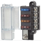 ST-Blade Compact Common Source 4 Circuit Fuse Block Including Cover
