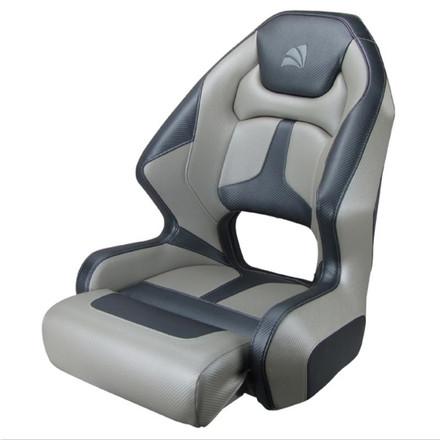 Relaxn Mako Premium Boat Seat - Grey / Silver Carbon