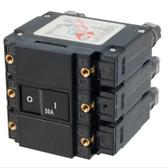 C-Series Flat Rocker Actuator Circuit Breaker - Triple Pole