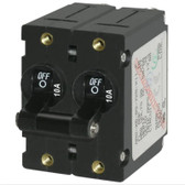 A Series Toggle Circuit Breakers - Double Pole, Black