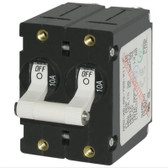 A Series Toggle Circuit Breakers - Double Pole, White