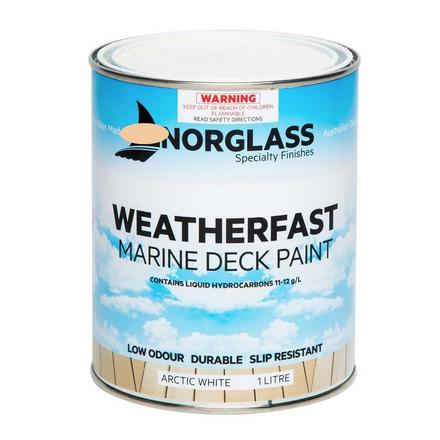 Norglass Weatherfast Slip Resistant Deck Paint - Arctic White