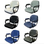 Reelax Deluxe Helm Chair with Stainless Steel Logo and Arms