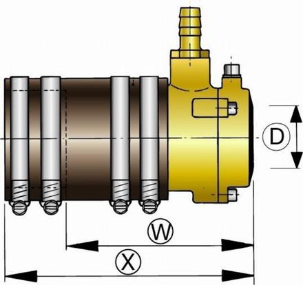 Vetus Bronze Flexible Inner Bearing With Dual Lip Seal 25mm
