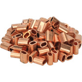 Din copper swages for wire