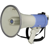 Show r megaphone hand grip and shoulder strap