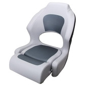Grey Carbon / White Boat Seat