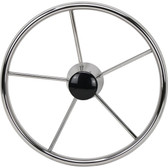 Highly polished stainless steel flat no dish wheels tapered shaft