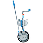 Zinc plated ezimover swing up jockey wheel
