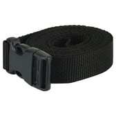 Side release plastic buckle tie down