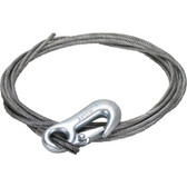 Galvanised winch wire with thimbled eye galvanised snap hook