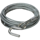 Galvanised winch wire with thimbled eye stainless steel s hook