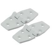 White Plastic Hinges