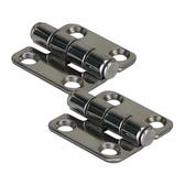 Stamped stainless steel hinges