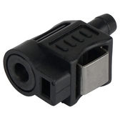 Female plastic fuel line connector for motor end
