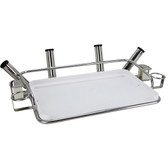 Stainless Steel Deluxe Bait Station with Rod Holders