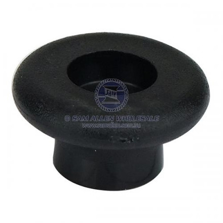 Black Shock Cord button