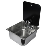 Can r stainless steel sinks with glass lid and folding tap