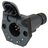Vehicle Socket - Small Round - 7 Pin with LEDs