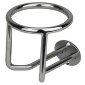 Stainless steel vertical surface mounting drink holder