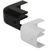 Plastic gunwale corner cap