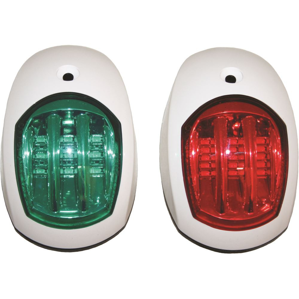 USCG//COLREGS LED NAVIGATION LIGHTS BLACK HOUSINGS-Port//Starboard Marine//Boat//Nav