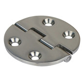 Flush mount cast stainless steel hinge round 316g stainless steel