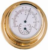 Brass Thermometer & Hygrometer - 70mm
