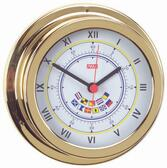 Brass Clock -  Code Flags - 120mm