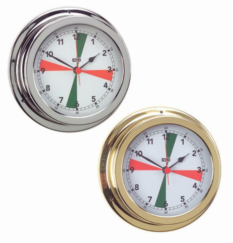 Ships Clock Yachts Clock Polished Brass 120mm Face Roman Numerals Anvi Europe