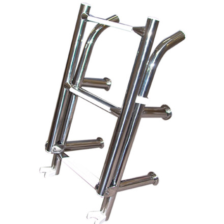 Stainless Steel 4 Rung Open Top Ladder Boat Warehouse