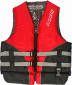 Foam - Approved Cyclone Nylon Life Vest - L50S Red