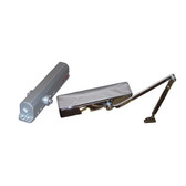 Chrome plated door closer