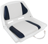 Padded Folding Seat - Blue/White & White Shell