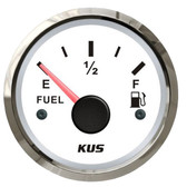 KUS Fuel Tank Gauge - White & Stainless