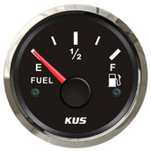 KUS Fuel Tank Gauge - Black & Stainless