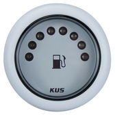 KUS Fuel Tank Gauge - White, LED
