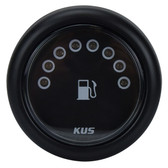 KUS Fuel Tank Gauge - Black, LED