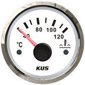 KUS Water Temperature Gauge - White & Stainless