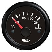 KUS Water Temperature Gauge - Black