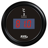 KUS Water Temperature Gauge - Black, Digital