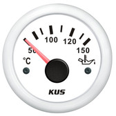 KUS Oil Temperature Gauge - White