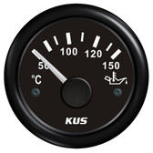 KUS Oil Temperature Gauge - Black
