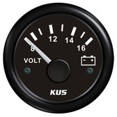 KUS Volt Meter Gauge - Black