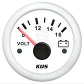 KUS Volt Meter Gauge - White