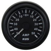 KUS Ammeter Gauge - Black