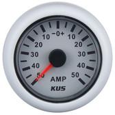 KUS Ammeter Gauge - White