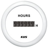 KUS Hour Meter Gauge - Digital, White