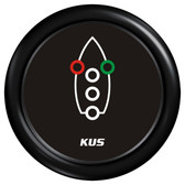KUS Navigation Light Indicator Gauge - Black